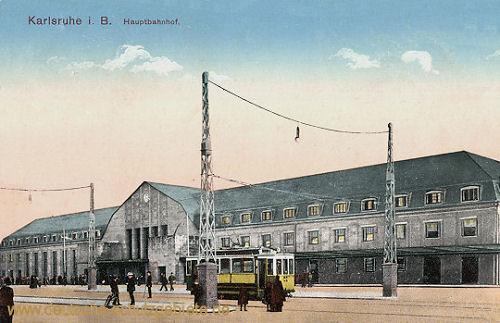 Karlsruhe i. B., Haupbahnhof