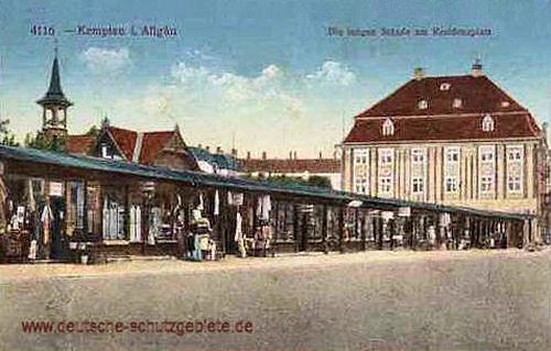 Kempten, Die langen Stande am Residenzplatz