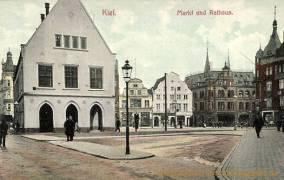 Kiel, Markt und Rathaus