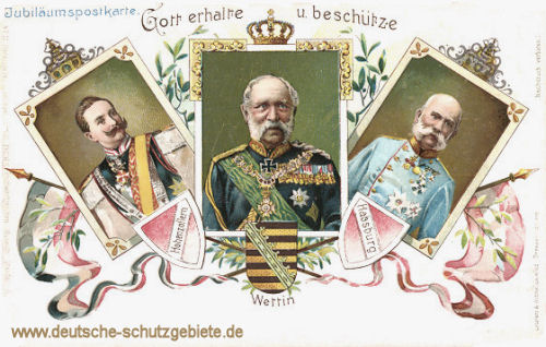 Kaiser Wilhelm II. - König Albert von Sachsen - Kaiser Franz Josef