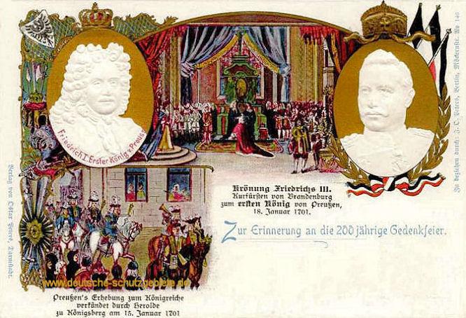 Königreich Preußen, Zur Erinnerung an die 200 jährige Gedenkfeier 1901