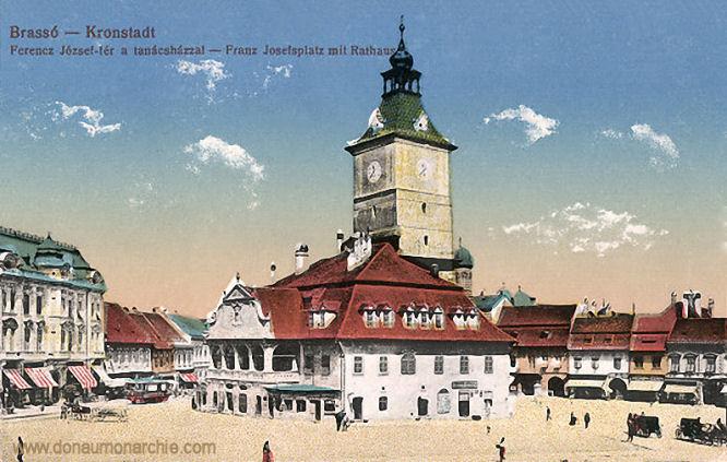 Kronstadt (Brassó - Brașov, Franz Josefsplatz mit Rathaus