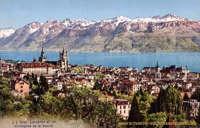 Lausanne et les montagnes de la Savoie