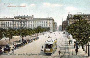 Leipzig, Augustusplatz mit Hauptpost