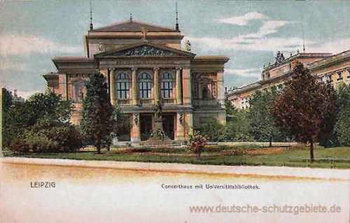 Leipzig, Konzerthaus mit Universitätsbibliothek