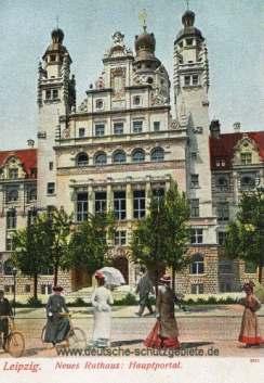 Leipzig, Neues Rathaus Hauptportal