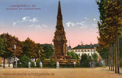 Ludwigshafen, Marktplatz mit Luitpoldbrunnen
