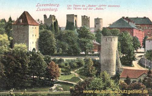 Luxemburg, Die Türme auf der Rahm