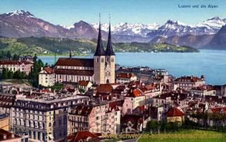 Luzern und die Alpen