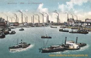 Mannheim, Blick von der Rheinbrücke