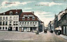 Meerane i. S., Markt mit Augustusstraße