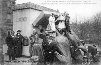 Metz, zerstörtes Denkmal Kaiser Friedrich III.