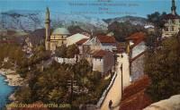 Mostar, Kujundžiluk-Gasse und Mehmedpaša-Moschee