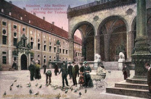München, Alte Residenz und Feldherrnhalle