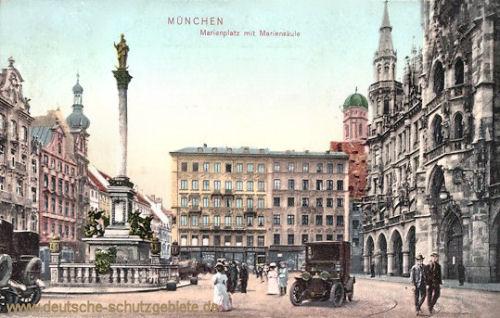 München, Marienlatz mit Mariensäule