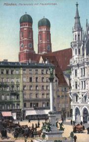 München, Marienplatz mit Frauentürmen