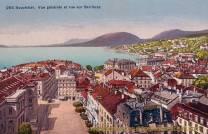 Neuchâtel, Vue générale et vue sur Serrières