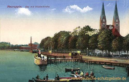 Neuruppin, See mit Klosterkirche
