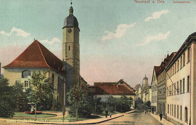 Neustadt an der Orla, Schlossplatz mit Carl Alexander-Straße