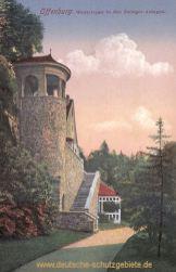 Offenburg, Wenktreppe in den Zwinger-Anlagen