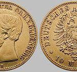 Niko. Friedr. Peter Gr. von Oldenburg, 10 Mark, 1874