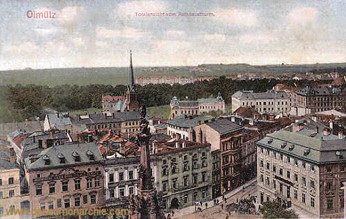 Olmütz, Totalansicht vom Rathausturm