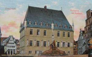 Osnabrück, Marktplatz mit Rathaus