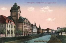 Pforzheim, Reichsbank und Gymnasium