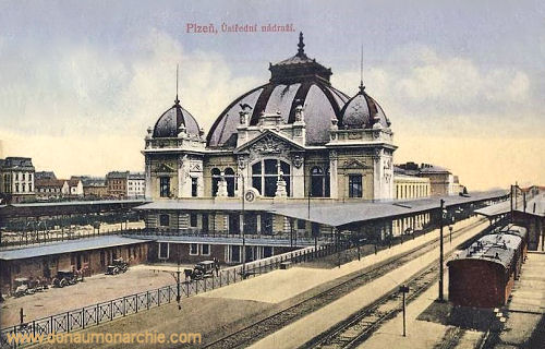 Pilsen, Bahnhof