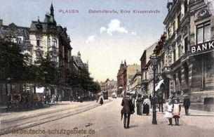 Plauen, Bahnhofstraße, Ecke Krausenstraße