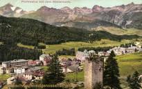 Pontresina mit dem Römerturm