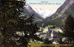 Pontresina, Schlosshotel Enderlin und Blick in's Rosegtal