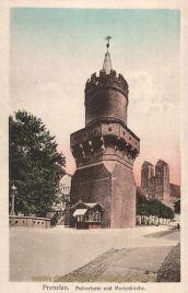 Prenzlau, Pulverturm und Marienkirche