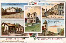 Radautz, Ackerbauschule, Kirchengasse, Bahnhof, Herrengasse