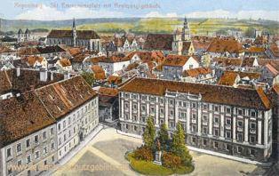 Regensburg, Skt. Emmeramsplatz mit Regierungsgebäude