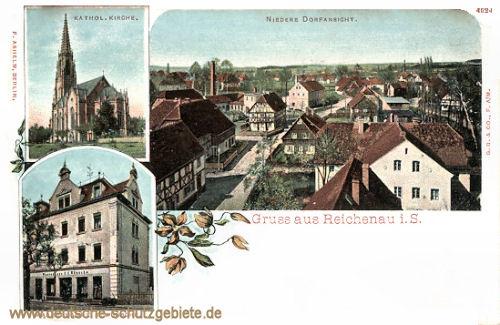 Reichenau i. S., Katholische Kirche, Niedere Dorfansicht