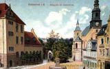 Reichenbach i. V., Königsplatz mit Trinitaskirche Kaiserliches Postamt und König Albert-Denkmal
