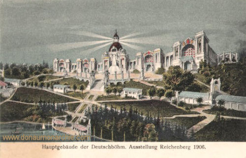 Reichenberg, Hauptgebäude der Deutschböhmischen Ausstellung 1906