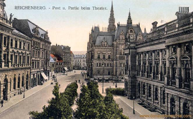 Reichenberg, Post und Partie beim Theater