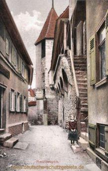 Reutlingen, Stadtmauerpartie, Zwingerturm