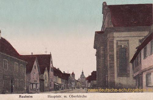 Rosheim, Hauptstraße mit Oberkirche