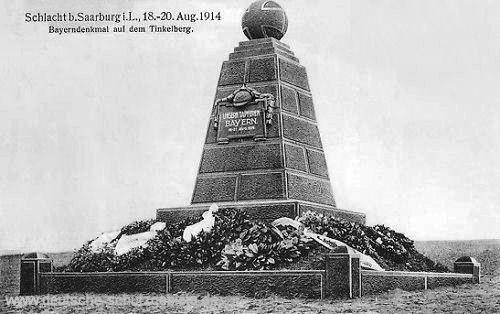 Schlacht bei Saarburg i. L., 18. - 20. Aug. 1914 - Bayerndenkmal auf dem Tinkelberg