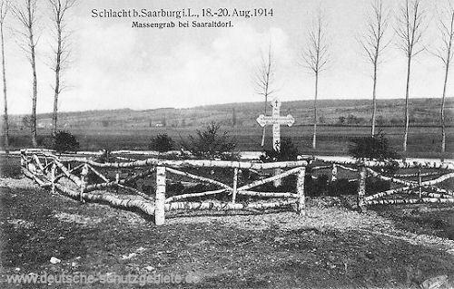Schlacht bei Saarburg i. L. , 18. - 20. Aug. 1914 - Massengrab bei Saaraltdorf