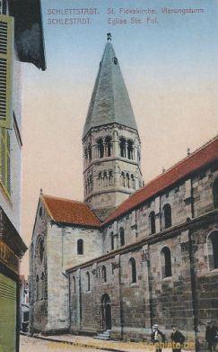 Schlettstadt, St. Fideskirche, Vierungsturm