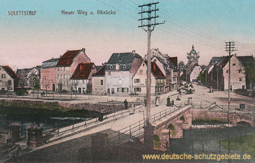 Schlettstadt, Neuer Weg und Illbrücke