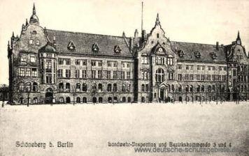 Schöneberg, Landwehr-Inspektion und Bezirkskommando 3 und 4