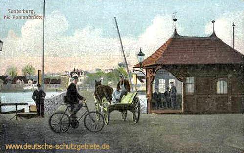Sonderburg, Pontonbrücke