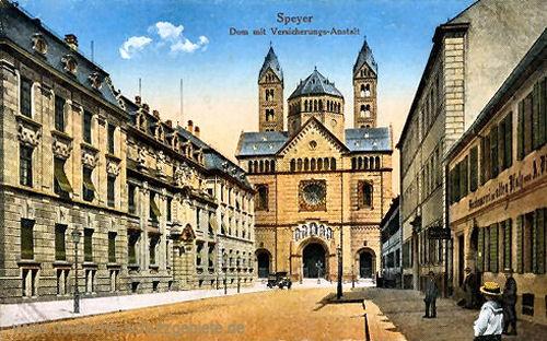 Speyer, Dom mit Versicherungs-Anstalt