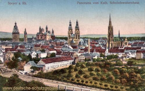 Speyer, Panorama vom kath. Schulschwesternhaus