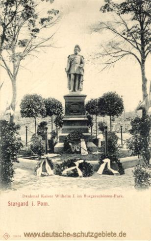 Stargard i. P., Denkmal Kaiser Wilhelm I. im Bürgerschützen-Park